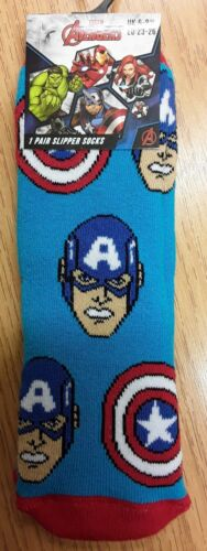 Hulk Multi Character Captain America Boys Slipper Socks with Iron Man