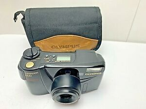 Olympus-SuperZoom-800-35mm-Point-amp-Shoot-Film-Camera-w-Case-USED