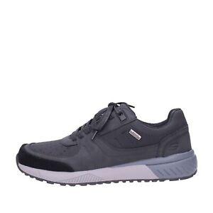 Skechers-Baskets-Cuir-Homme-Noir-66398-blk