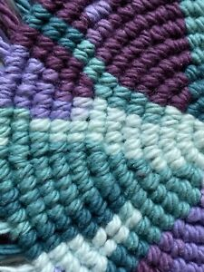 Blue Purple Handmade Macrame Coasters For Bohemian Home Decor Coaster Set Ebay