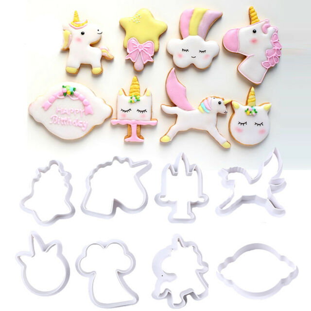 8pcs//set Cookie Cutter Plastic Animals Fondant Biscuit Mold Cutter Cake Mold