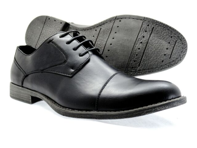 Mens Dress Shoes Viotti Oxford Lace Up Black Cap Toe fashion Shoes