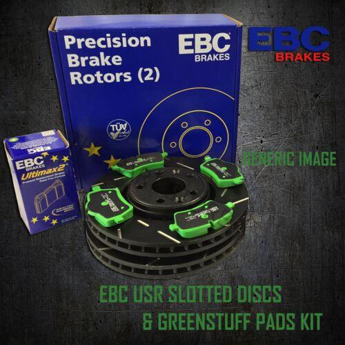 GREENSTUFF PADS KIT SET PD06KR034 EBC 255mm REAR USR SLOTTED BRAKE DISCS
