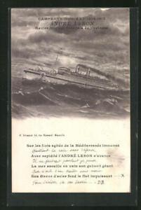 AK-Campagne-d-Orient-1914-1917-Andre-Lebon-Lazarettschiff
