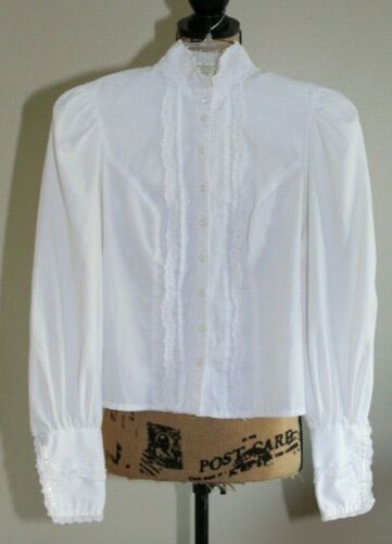 Vintage Jessica's Gunnies Long Sleeve Ivory Blouse
