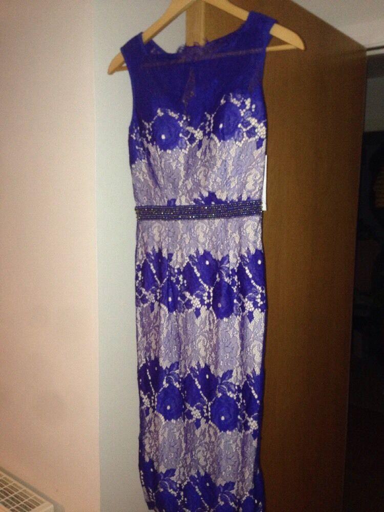 Ladies Little Mistress BNWT Size 8 bluee nude Dress