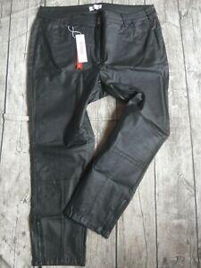 Sheego-Hose-Jeans-beschichtet-Damen-schwarz-925-Ubergroesse-NEU