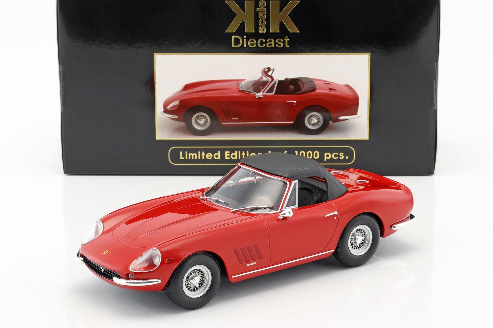 Ferrari 275 gtb4 lennart Spyder con radios llantas año de fabricación 1967 rosso 1 18 KK-Scale