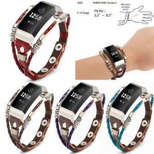 Details about For Fitbit Charge 3 / Charge 3 SE Fitness Tracker Bands  Handmade Leather Strap