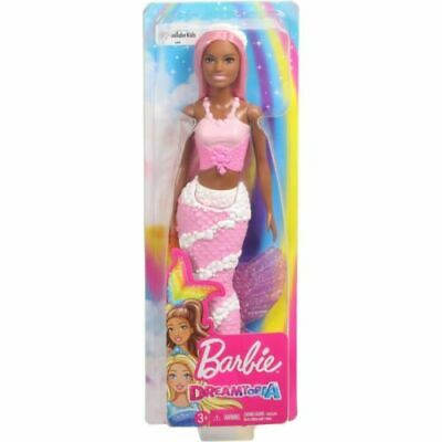 Barbie Dreamtopia Jewels Mermaid Doll Tail Pink White Silver Gemstones Headpiece