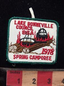 Vtg-1978-BSA-Patch-LAKE-BONNEVILLE-COUNCIL-CAMPOREE-Boy-Scouts-70WC