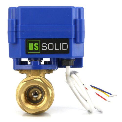 """3 Wire Setup 1//2/"""" Brass Electric Motorized Ball Valve 9V 12V to 24 V DC//AC"""
