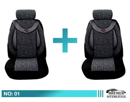 VW Passat B7 ab Bj 2010-2014 Maß Schonbezüge Sitzbezüge Fahrer/&Beifahrer 01