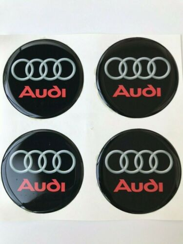 4 x 60mm Silikon Audi Aufkleber Embleme Felgen Logo Nabendeckel