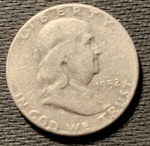 1952-P-Ben-FRANKLIN-Silver-Half-Dollar-90-Silver-Nice-Coin-1-2
