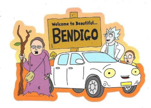 Rick and Morty Bushworld Adventures Welcome To Bendingo Peel Off Sticker Decal