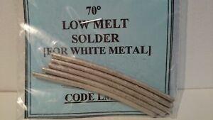 Low-Melt-70-Deg-Solder-for-White-Metal-25gms-Pack-UK-Seller-UK-Stock