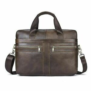 House of Quirk Leather 15.6 inch Shoulder Sling Laptop Messenger Bag For Unisex