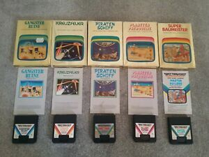 5-Atari-2600-Boxed-Complete-games-by-Quelle-Spectravideo-complete-German-set