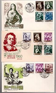 SPAIN-1960-SET-3-FIRST-DAY-COVERS-921-30-MURILLO-PAINTINGS