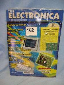MAGAZINE TODO ELECTRONICA KIT REGALO Nº 36 AÑO IXI COD$*158 REVISTA