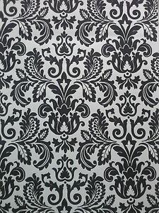 Rollo Seitenzugrollo Mit Kettenzug Schwarz Weiss Ornamente 180x190 Cm Ebay