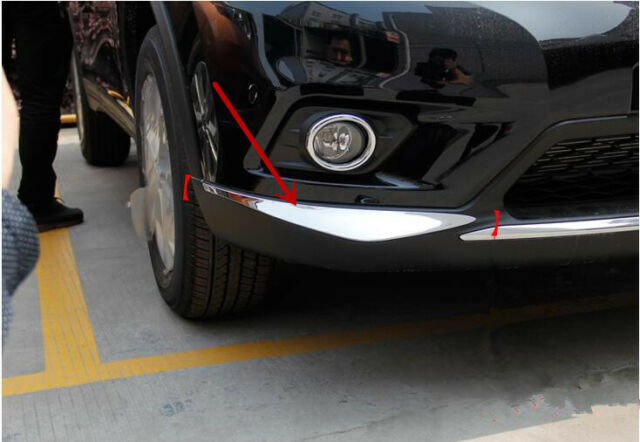 For Nissan Rogue X Trail 2014 2015 2016 New Chrome Front Bumper Trim  Protector