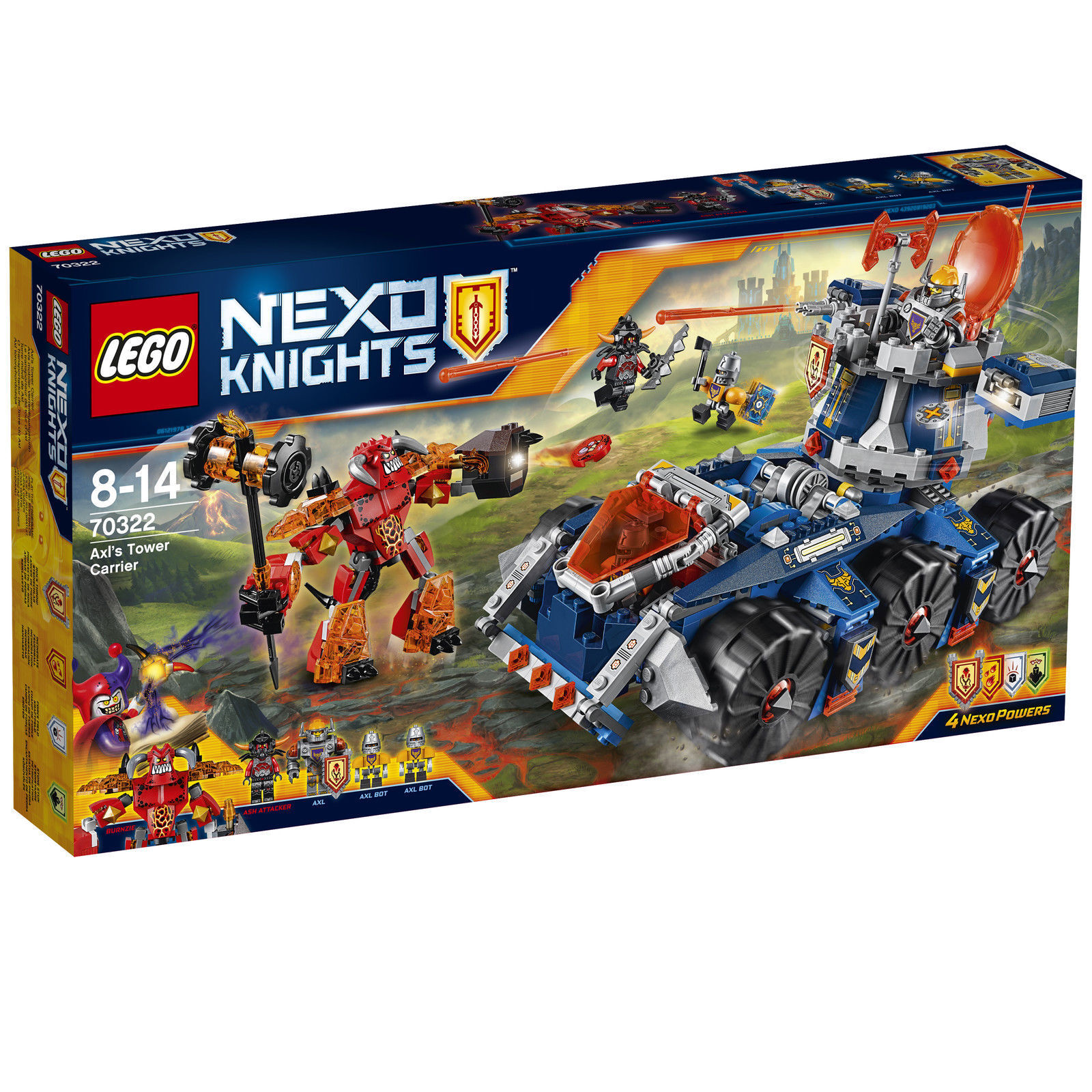 LEGO Nexo Knights 70322-axls mobile torre di difesa, NUOVO & OVP