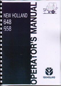 new holland 648 and 658 round baler operator manual book ebay rh ebay com 648 New Holland Parts 648 New Holland Parts