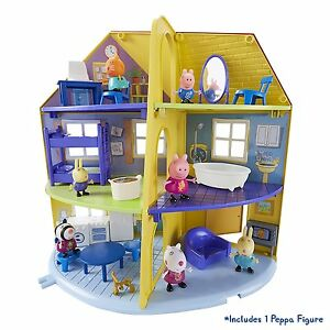 Peppa-Pig-Familia-Peppa-039-s-Deluxe-Hogar-Casa-De-Juego-Con-Figura-Juguete-Juegp-3