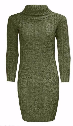 Nouveau Femme à manches longues de capot Polo Câble Pull Mini Robe Top 8-26