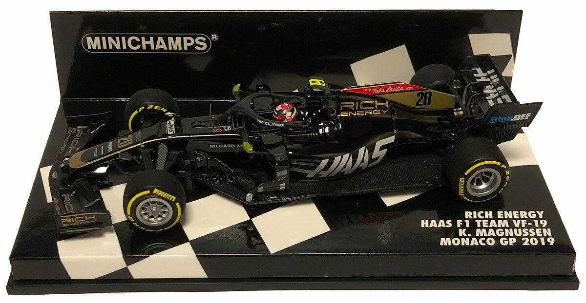 Minichamps Haas F1 Team VF-19 Monaco GP 2019 - Kevin Magnussen 1 43 Scale