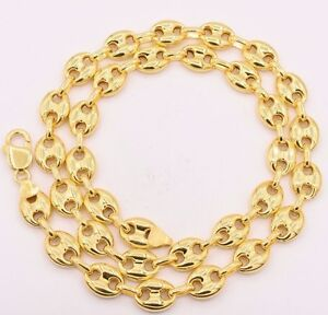 Gucci Link Chain For Sale Ebay >> 11mm Puffed Gucci Anchor Mariner Link Chain Necklace 14k Yellow Gold
