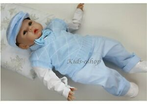 Details Zu Baby Boy Blue Smart Tank Top Outfit Christening Special Occasion Christmas Party