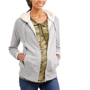 ca4d59e1f0915 Faded Glory Maternity Sherpa Hoodie Size Large 12-14 821796323520 | eBay