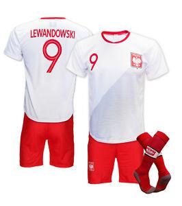 super popular a5fe5 58a2b Details about Komplet getry Football Sportwear Kit T-shirt +Shorts +Gaiters  Robert Lewandowski