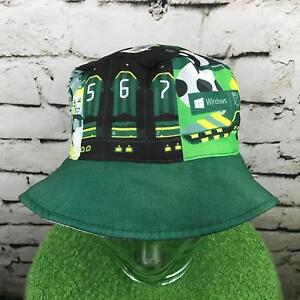 Soccer City USA Unisex One Sz Hat Green White Reversible Bucket ... 837aa986ead1