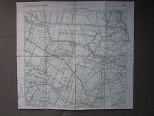 Carta Italia IGM Ceneselli Zelo Sariano Baruchella Geografia Cartiglio Novecento
