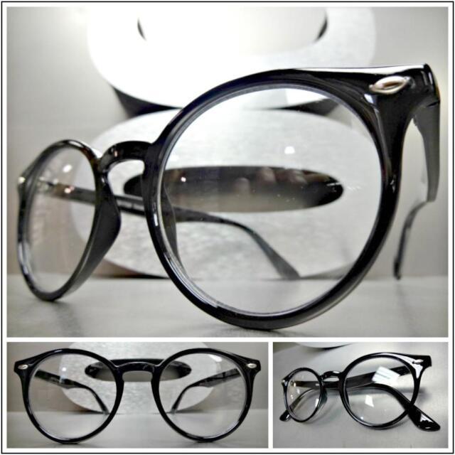 2ccafa6a63f Classic Vintage 50 s Retro Cat Eye Style Clear Lens Eye Glasses Black Frame