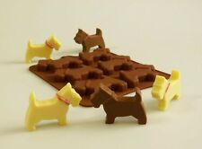 Dog figure Chocolate Mold Silicone Scotty Scottie Mould Cupcake Topper Cake Pan