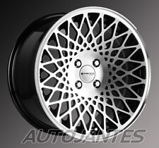 "4 JANTES 8,0X16"" 4X100 STANCE ENCORE BLACK POLISHED WHEELS,BMW E30,MINI,MX5,FIAT"