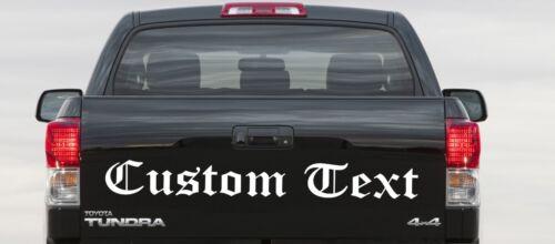 Custom text logo company name PICK-UP TRUCK REAR WINDOW Sticker Vinyl Sign boat