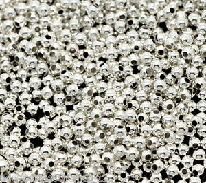 3000-Versilbert-Glatt-Rund-Spacer-Perlen-Beads-2mm