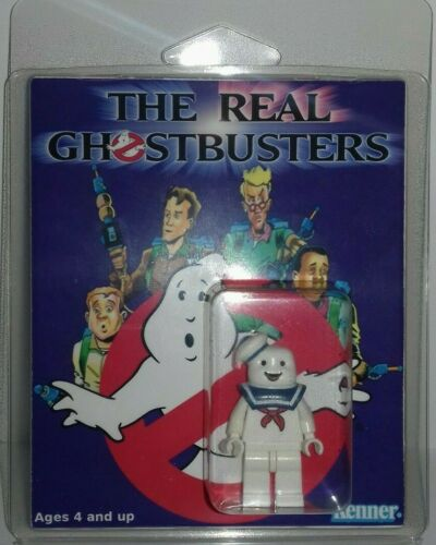 Custom Lego Ghostbusters Mr Stay Puft figure with clamshell display box