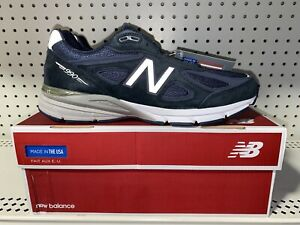 New-Balance-990v4-Mens-Athletic-Running-Shoes-Size-10-Navy-Blue-M990NV4-USA