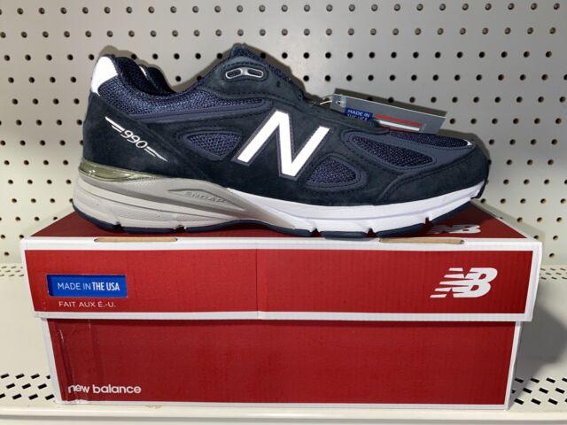 New Balance 990v4 Mens Athletic Running Shoes Size 10 Navy Blue M990NV4 USA