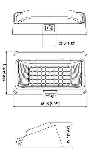 LED Porch Light with SWITCH Interior Exterior Light LED 12VDC 12V