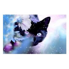 5D Diamond Embroidery Full Drill Black Cat Painting Cross Stitch Sticker Decor