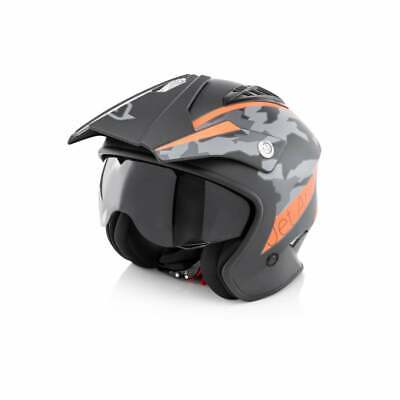 Red XS 53-54cm Wulfsport Adult Vista Trials Open Face Motorbike Motorcycle Helmet with Visor