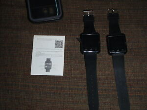Two-Bluetooth-Smart-Wrist-Watches-Phone-Mate-For-IOS-Android-iPhone-Samsung-HTC